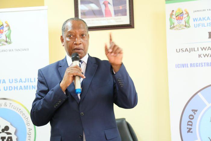 Waziri wa Katiba na Sheria, Prof. Palamagamba Kabudi.