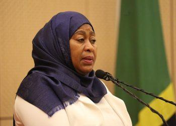 Makamu wa Rais wa Tanzania Samia Suluhu Hassan.